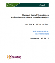 Fairness Monitor Interim Report 2015 - Redevelopment of LeBreton Flats Project
