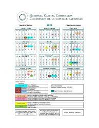 NCC Calendar of Meetings 2019