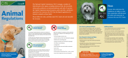 National Capital Commission Animal Regulations