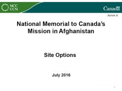 National Memorial to Canada's Mission in Afghanistan