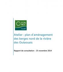 Plan d'aménagement des berges nord de la rivière des Outaouais - Rapport de consultation 2014