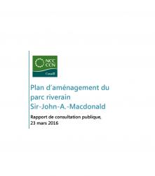 Plan d'aménagement du parc riverain de la berge sud de la rivière des Outaouais - Rapport de consultation publique - 2016