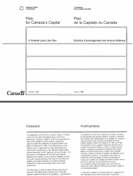 Plan for Canada's Capital - A Federal Land Use Plan 1988