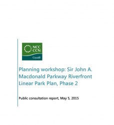 Planning workshop: Ottawa River South Shore Riverfront Park Plan, Phase 2 - Public consultation report 2015