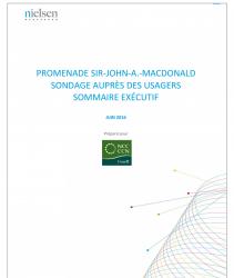Promenade Sir-John-A.-Macdonald - Sondage auprès des usages - Sommaire exécutif