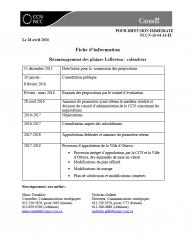 Réaménagement des plaines LeBreton - calendrier