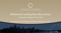 Richmond Landing Shoreline Access - Ceremonial Landing and Navy Wake