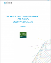Sir John A. Macdonald Parkway - User Survey - Executive Summary