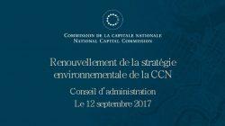 Renouvellement de la stratégie environnementale de la CCN
