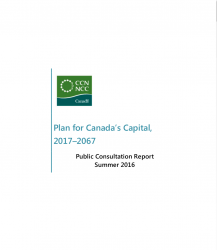 Plan for Canada's Capital, 2017–2067 - Public Consultation Report Summer 2016