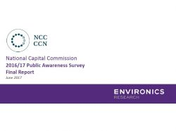 National Capital Commission 2016/17 Public Awareness Survey Final Report
