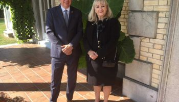 NCC CEO Dr. Mark Kristmanson with CCNQ Chair and Director General, Marie Claire Ouellet.