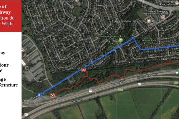 Section closure of Watts Creek Pathway, February 12 to March 9