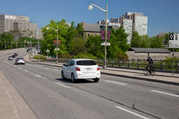 Closure of Portage Bridge northbound lanes toward Gatineau for resurfacing work starting tonight through Sunday