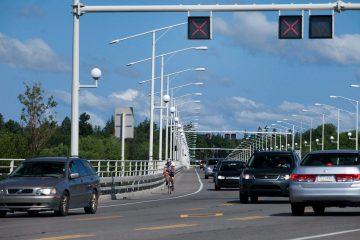 Fermetures partielles d'une voie en direction sud sur le pont Champlain le 14 décembre, et du 17 au 21 décembre