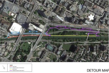 Temporary detours along the Rideau Canal Eastern Pathway