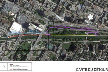 Détours temporaires le long du sentier est du canal Rideau