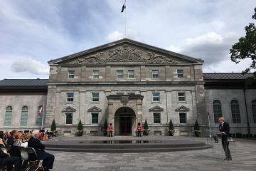 Rideau Hall's new forecourt and Fountain of Hope inaugurated