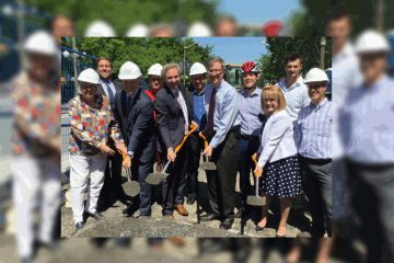 Ground breaks on Mackenzie Avenue cycling lanes
