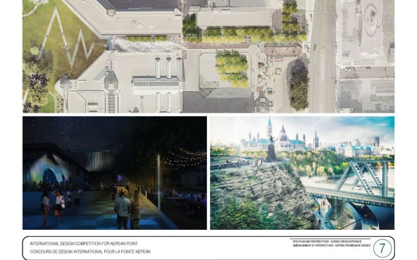 Site plan and perspectives - Sussex Drive entrance