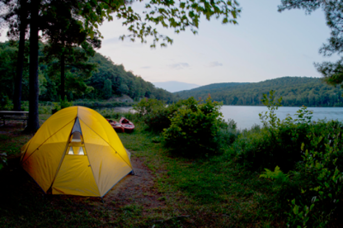 Camping in Gatineau Park