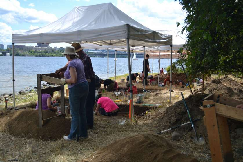Archaeological Digs at Leamy Lake Park