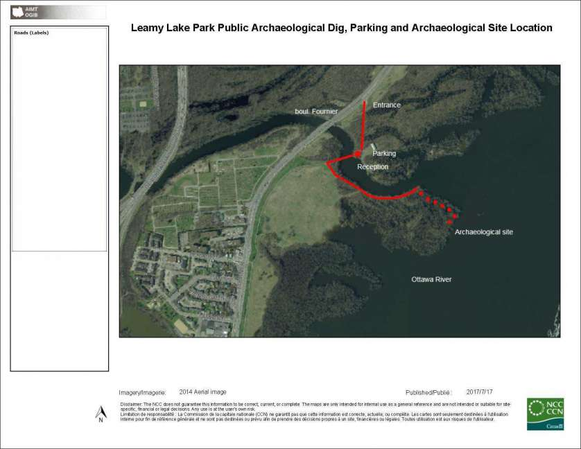 Leamy Lake Park Parking and Site