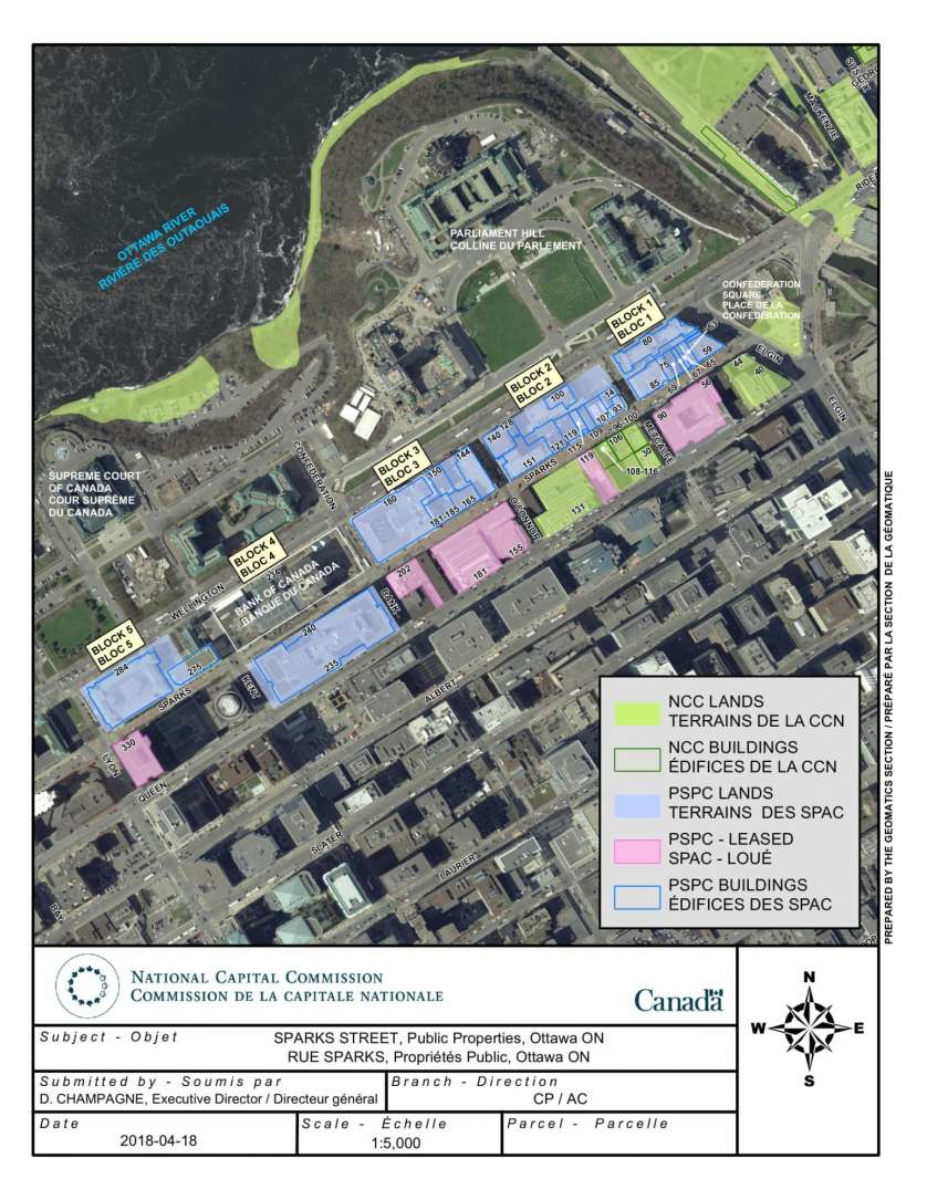Sparks Street Public Properties Map