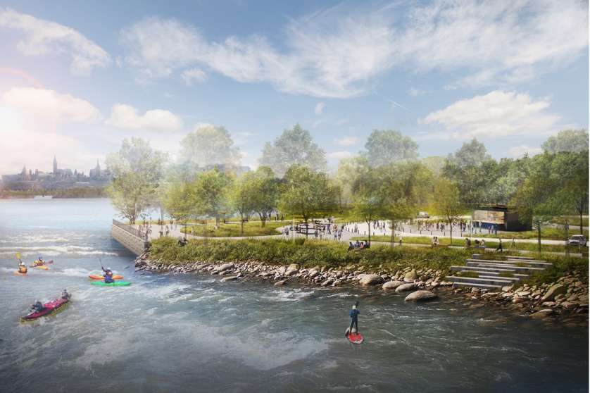 South Shore Riverside Park - Bate Island Rendering