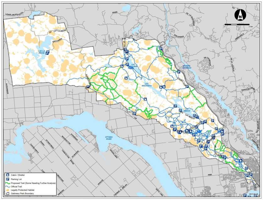 Responsible Trail Management - Sector Map