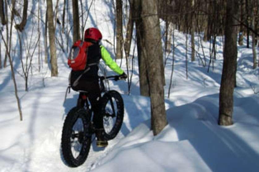 Snow biking in Gatineau Park National Capital Commission
