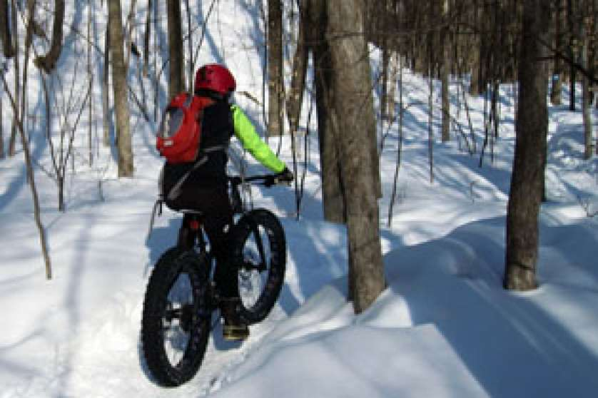 Snow biking in Gatineau Park
