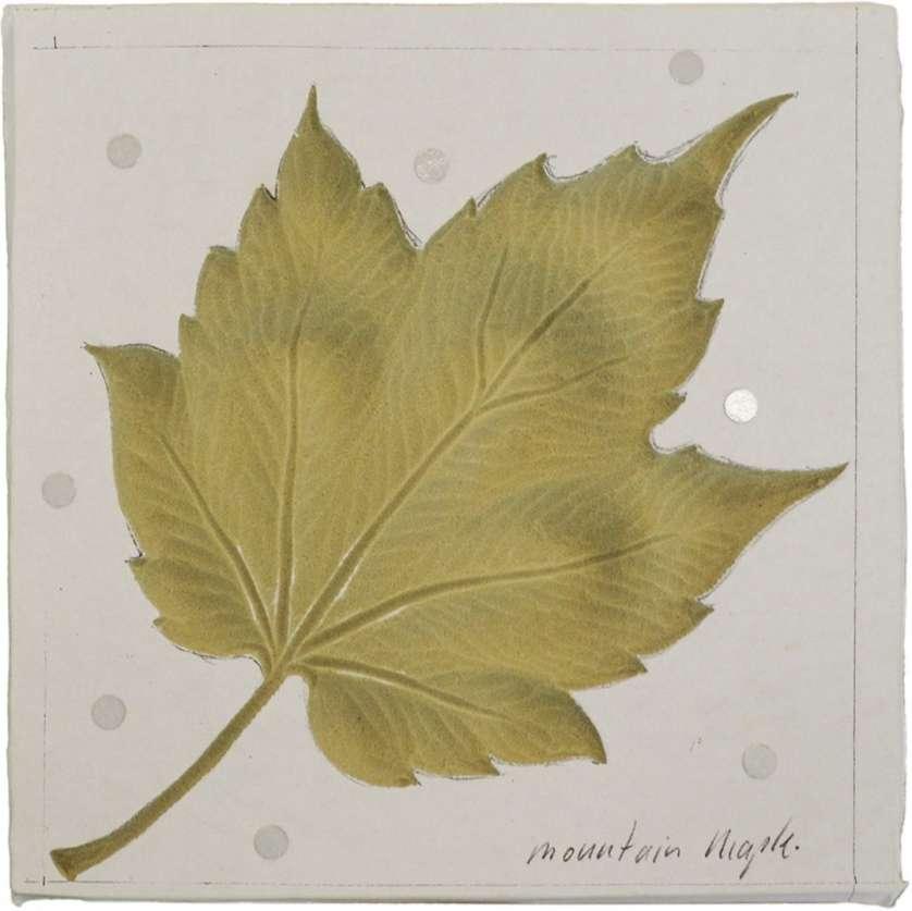 sculpture d'une feuilles d'érable