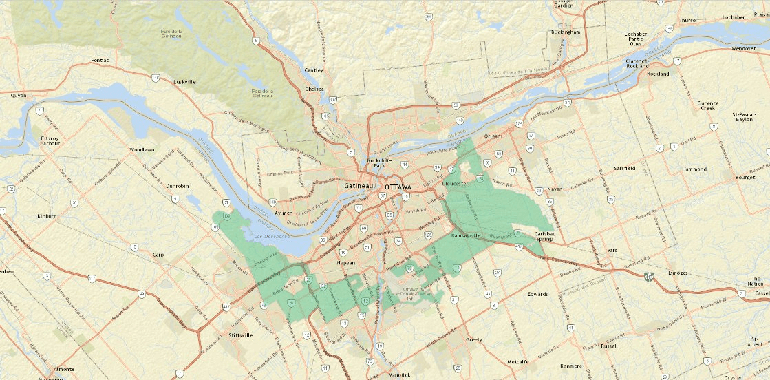 Greenbelt map