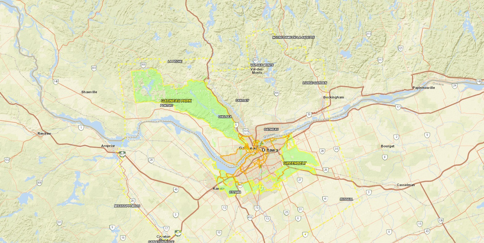 National Capital Map