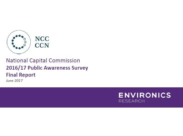 National Capital Commission 2016/17 Public Awareness Survey Final Report