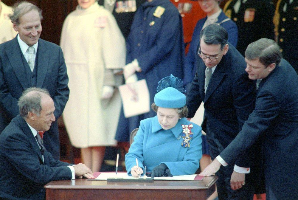 The Charter was signed into law by Her Majesty Queen Elizabeth II in 1982.
