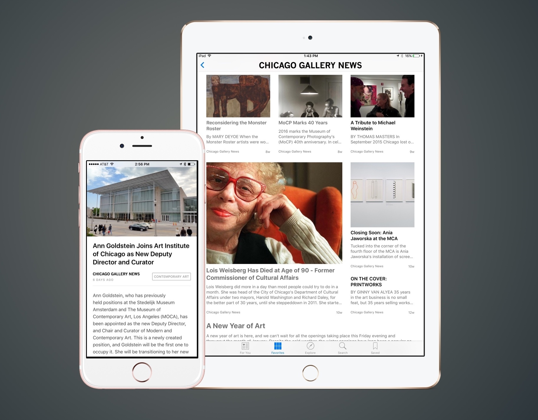Chicago Gallery News publishes to Apple News