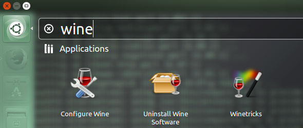 Ubuntu Wine search