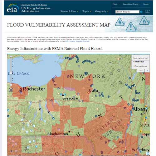 New York Climate Change Science Clearinghouse - National flood map