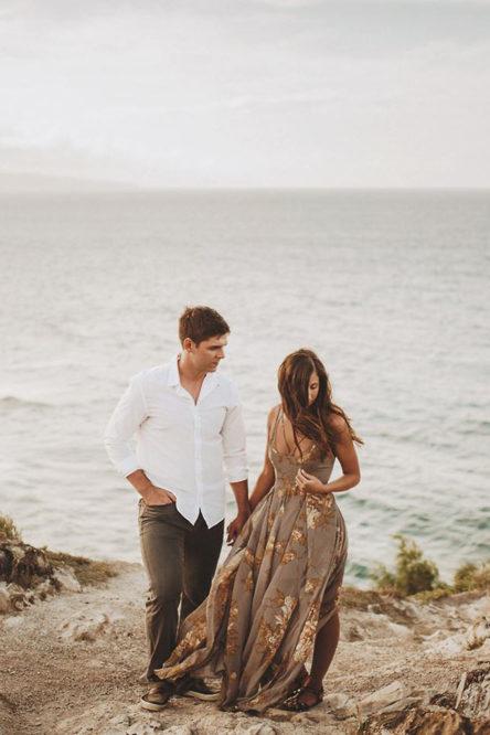 Maui Cliff Engagement Session
