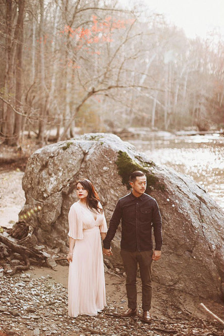 Great Falls Park Engagement Session