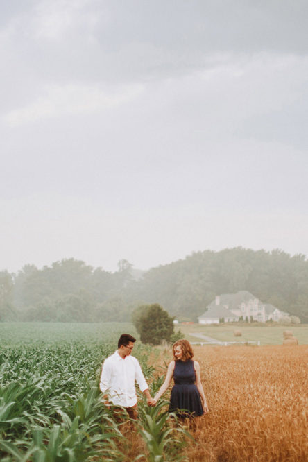 Corn Field Engagement Session Maryland