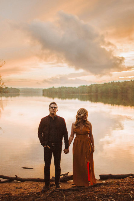 Loch Raven Reservoir Sunset Baltimore MD Engagement Photos