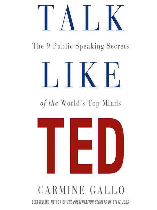 Life changing books - Talk Like Ted by Carmine Gallo