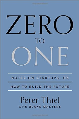 Zero to one by Peter Thiel - best entrepreneurship books