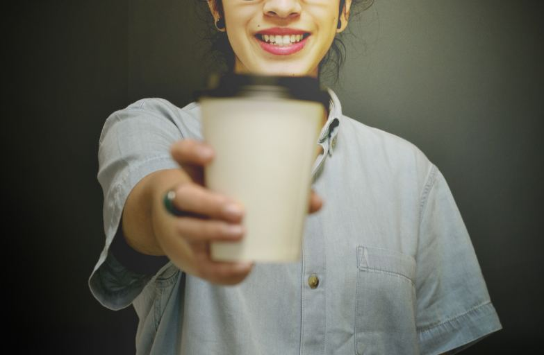 simplify your life - girl with coffee
