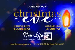 Christmas Eve Services at 10:00am & Candlelight Service at 6:00pm