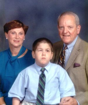 Brenda and Jim Bradford pose with HK for the Harpeth Hills Church of Christ directory. SUBMITTED