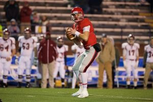 Brentwood Academy quarterback Jeremiah Oatsvall (Photo by Andy Collignon)